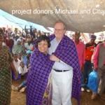 18. Kilimamoja-Ph3-project donors Michael and Charlotte