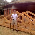 Alan built a sample truss for each building